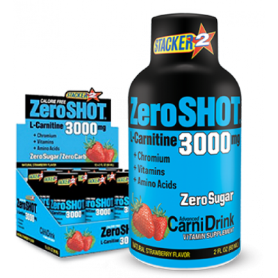 Stacker2 Zero Shot 3000 mg x12 L-Carnitine Çilek