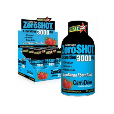 Stacker2 Zero Shot 3000 mg x 12 L-Carnitine Çilek
