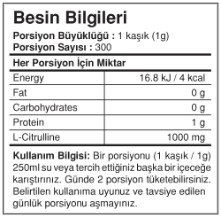 Bigjoy Citrulline 300 gr Powder Sitrulin - Thumbnail