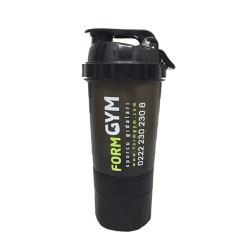 FormGYM 3 Bölmeli Siyah Shaker 500 ml - Thumbnail