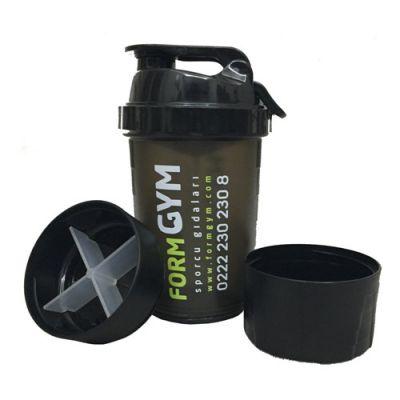 FormGYM 3 Bölmeli Siyah Shaker 500 ml