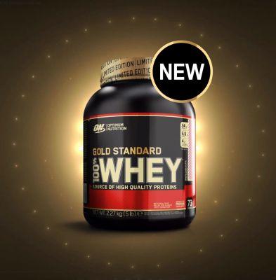 Optimum O.N. Whey Gold Standard Protein 2273 gr White Chocolate Raspberry
