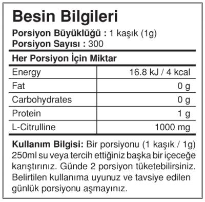 Bigjoy Citrulline 300 gr Powder Sitrulin