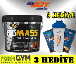 BIGJOY - Bigjoy Sports BIGMASS Gainer + GH FACTORS Çikolata 3000 gr