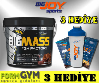 Bigjoy Sports BIGMASS Gainer + GH FACTORS Çikolata 5000 gr