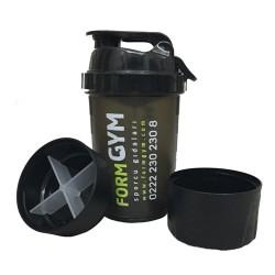 FormGYM - FormGYM 3 Bölmeli Siyah Shaker 500 ml