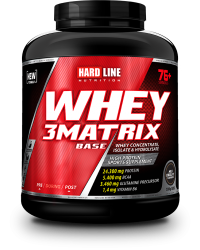 HARDLINE - Hardline WHEY 3Matrix 2300 gr Protein Base Çikolata