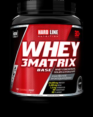 Hardline WHEY 3Matrix 908 gr Protein Base Sade Aromasız