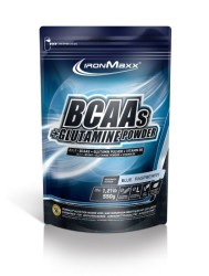 IRONMAXX - IronMaxx BCAA + Glutamine Powder 550 Gr Blue Raspberry