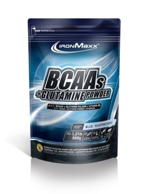 IronMaxx BCAA + Glutamine Powder 550 Gr Blue Raspberry