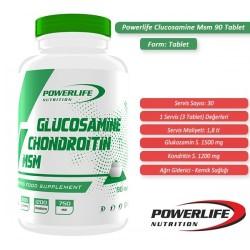 Powerlife Glucosamine Chondroitin MSM 90 tab - Thumbnail